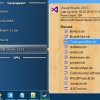 Jump List Of Visual Studio